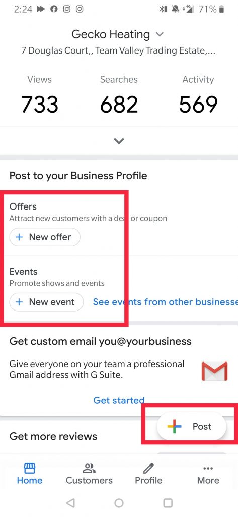 How to post using Google My Business