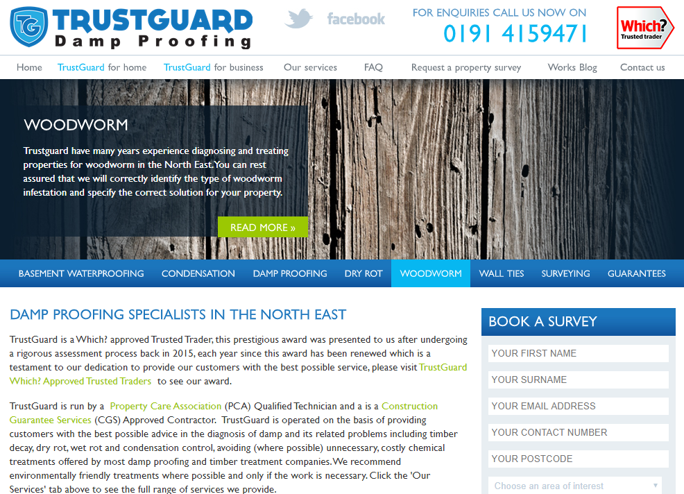 Trustguard Website