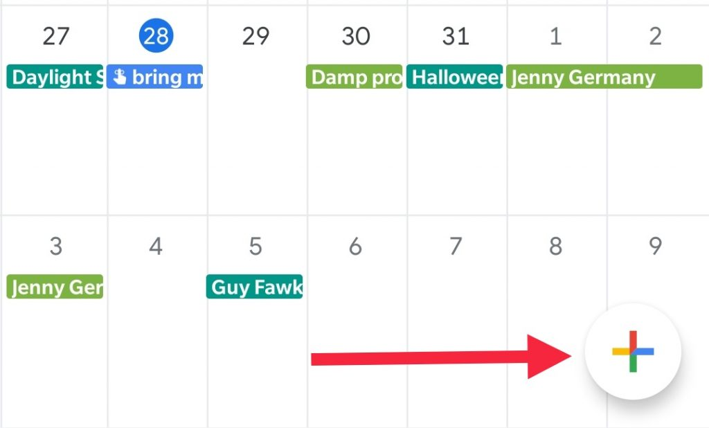 Creating an appointment in Google Calendar