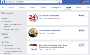 facebook business search