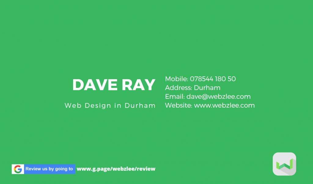 Webzlee Business Card